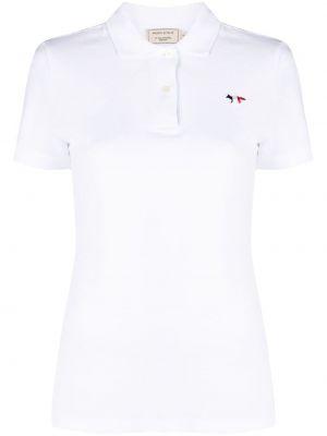 Рубашка с коротким рукавом - белая Maison Kitsuné
