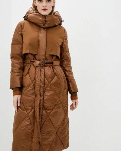 Утепленная коричневая куртка Clasna