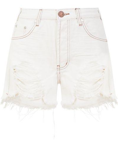 Хлопковые белые шорты One Teaspoon