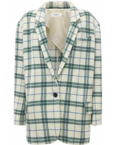 Зеленый шерстяной пиджак с карманами Isabel Marant étoile