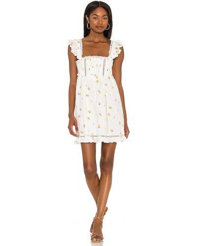 Кружевное платье мини - белое For Love & Lemons