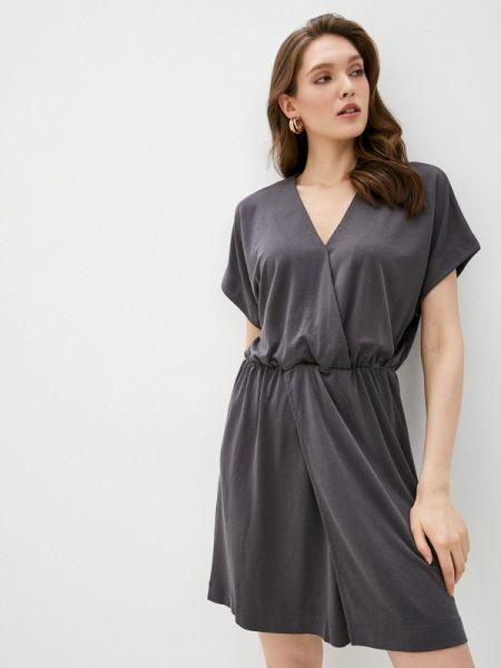 Платье серое прямое Sela