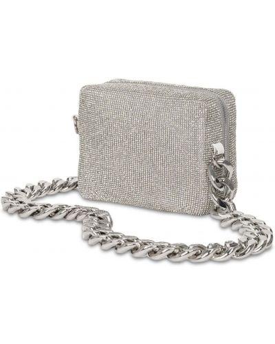 Torebka na łańcuszku srebrna z siateczką Kara