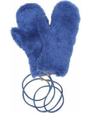 Niebieskie rękawiczki wełniane Max Mara