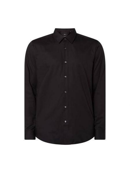 Bawełna czarny koszula z mankietami z długimi rękawami Boss