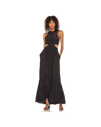 Черное платье на молнии с карманами Alc