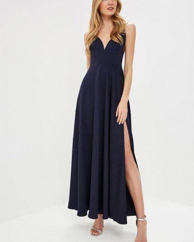 Вечернее платье осеннее синее Tutto Bene