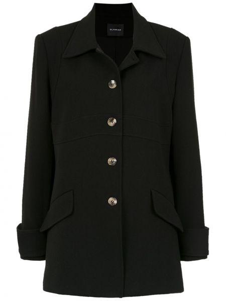 Черное пальто классическое с воротником Olympiah