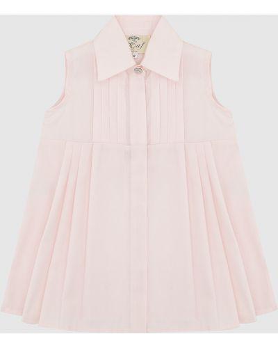 Розовое платье миди Caf