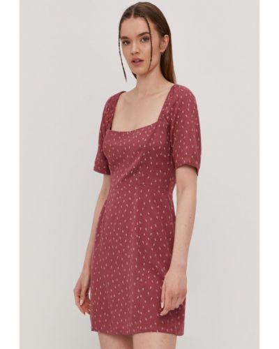 Różowa sukienka z wiskozy krótki rękaw Rvca
