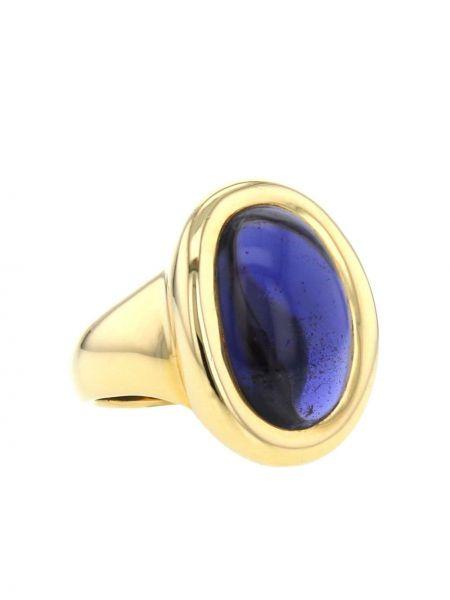 Золотистое кольцо золотое Cartier