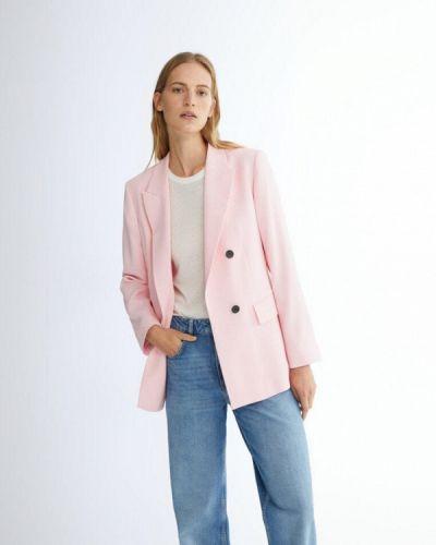 Розовый пиджак осенний Massimo Dutti