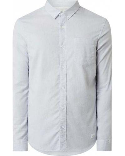 Niebieska koszula bawełniana z długimi rękawami Nowadays