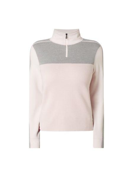 Różowa bluza wełniana z raglanowymi rękawami Bogner Fire + Ice