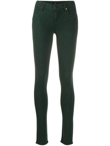 Джинсовые зауженные джинсы - зеленые Citizens Of Humanity