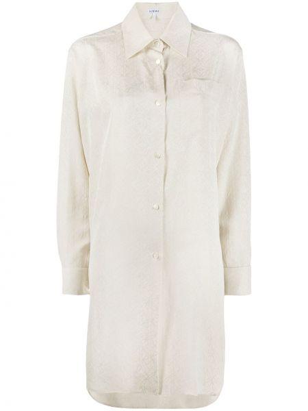 Шелковая с рукавами классическая рубашка с воротником Loewe