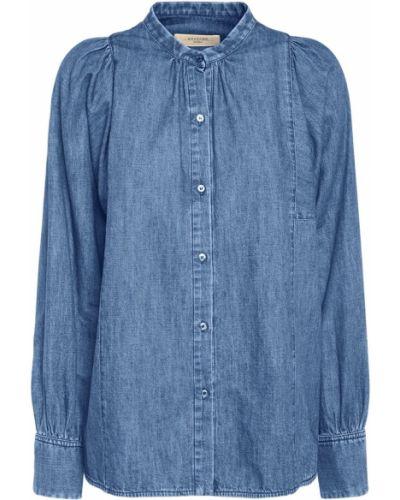 Niebieska koszula jeansowa bawełniana Weekend Max Mara