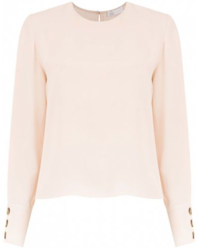 Блузка с длинным рукавом розовая прямая НК