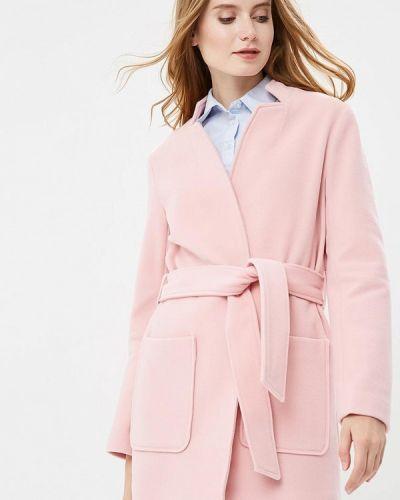 Розовое пальто весеннее Naf Naf