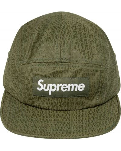 Zielona czapka bawełniana plaska Supreme