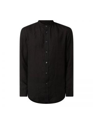 Czarna koszula z długimi rękawami Drykorn