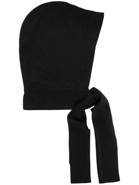 Czarny jedwab krawat z kapturem Dorothee Schumacher