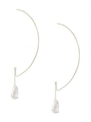 С цирконием серебряные серебряные серьги с подвесками E.m.