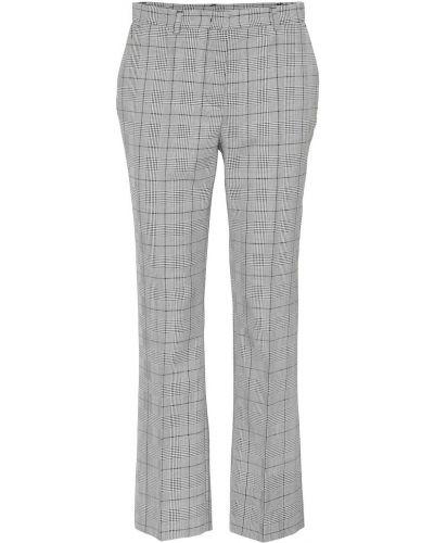 Wełniany szary klasyczne spodnie pled Red(v)