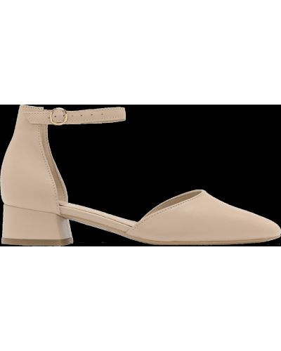 Кожаные туфли - бежевые Rylko