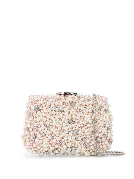 Różowa torebka na łańcuszku srebrna perły Giambattista Valli