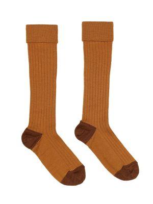 Ватные хлопковые теплые коричневые носки Caramel