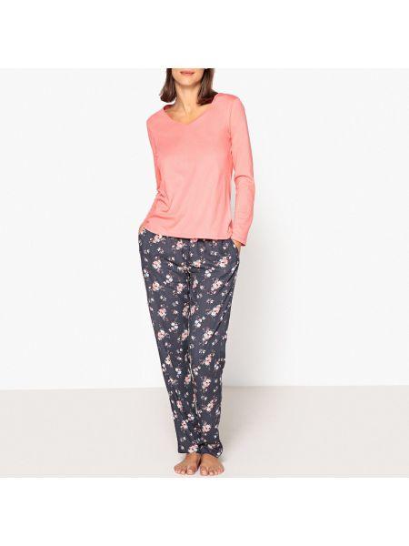 Пижама с брюками с цветочным принтом с длинными рукавами La Redoute Collections