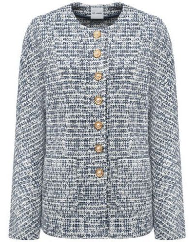Шерстяной серый пиджак St. John