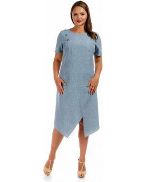 Летнее платье серое мини Liza Fashion