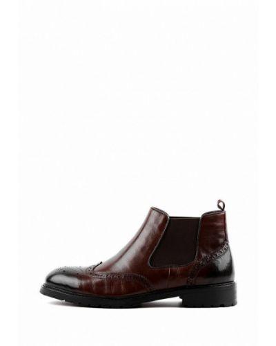 Кожаные ботинки челси - коричневые Basconi