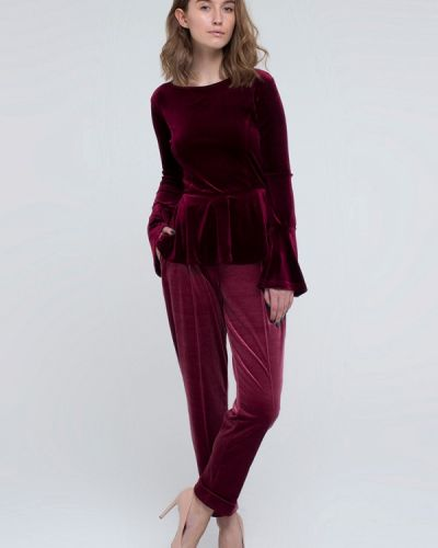 Брючный костюм бордовый красный Kira Mesyats