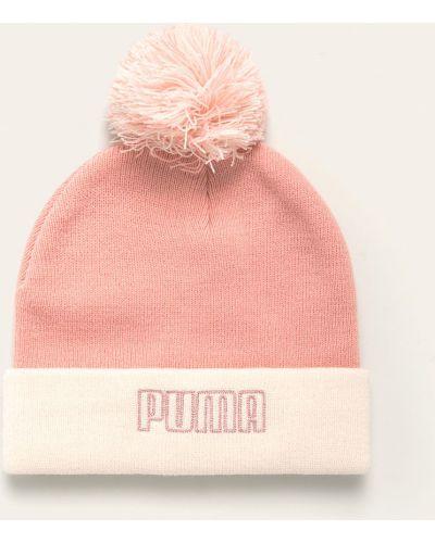 Шапка с отворотом с помпоном Puma