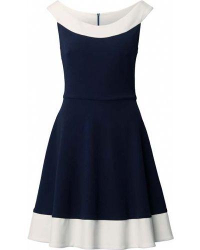 Niebieska sukienka koktajlowa bez rękawów Paradi