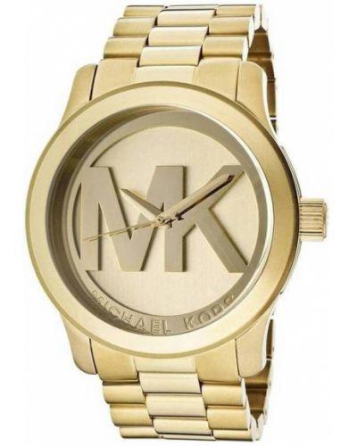 Beżowy złoty zegarek kwarcowy casual Michael Kors