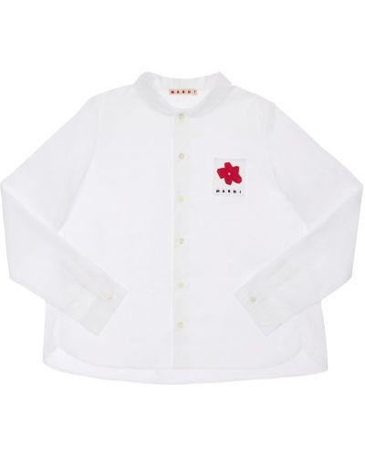 Biała koszula bawełniana Marni Junior