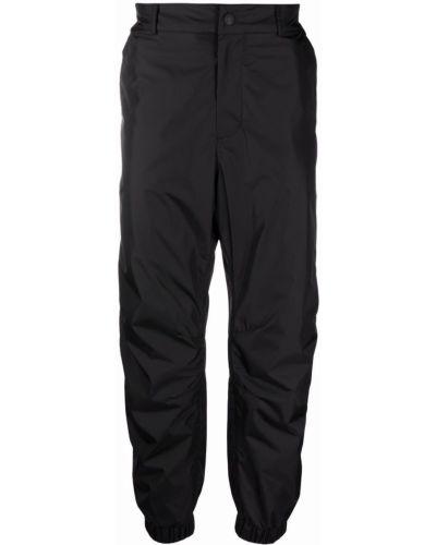 Czarne spodnie z paskiem Moncler Grenoble