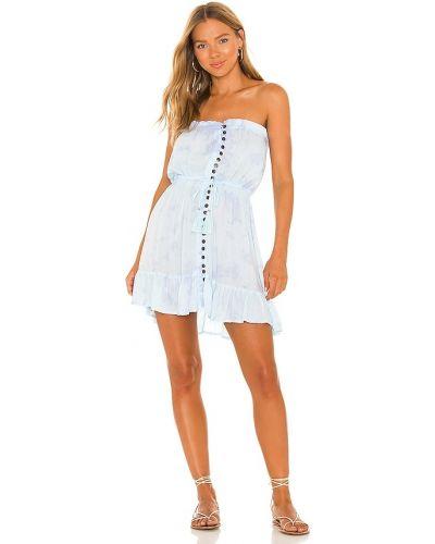 Платье мини с декольте - синее Tiare Hawaii