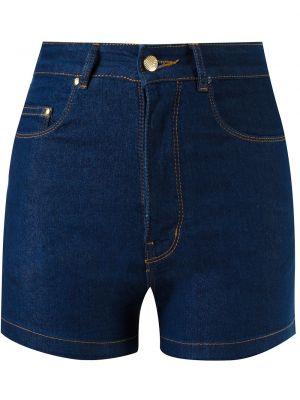 Джинсовые шорты с карманами со стразами на пуговицах Amapô