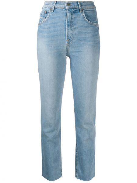 Niebieskie jeansy z wysokim stanem bawełniane Grlfrnd