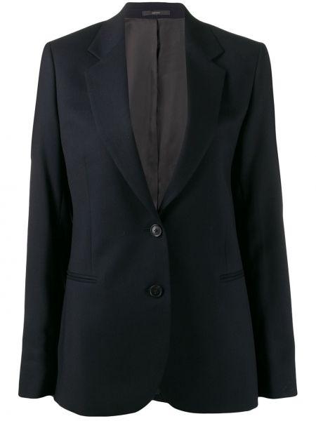 Шерстяной черный пиджак с карманами Paul Smith
