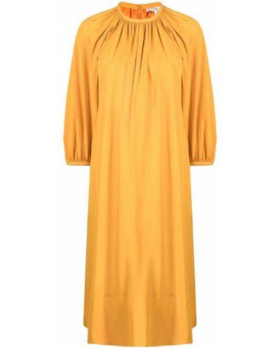 Pomarańczowa sukienka z jedwabiu Tibi