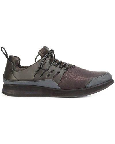 Кожаные кроссовки черные Hender Scheme