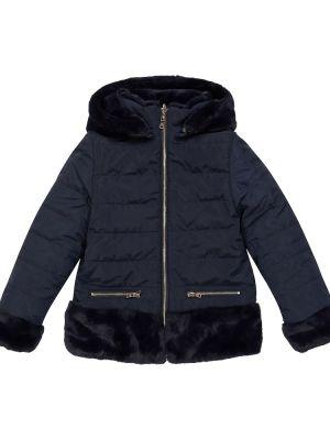 Куртка из искусственного меха - синяя Tartine Et Chocolat