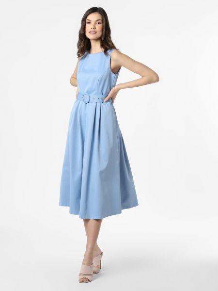 Niebieska sukienka midi elegancka Marie Lund