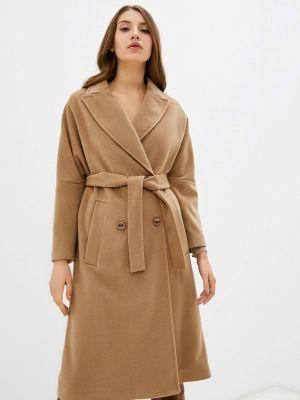 Коричневое демисезонное пальто Rinascimento